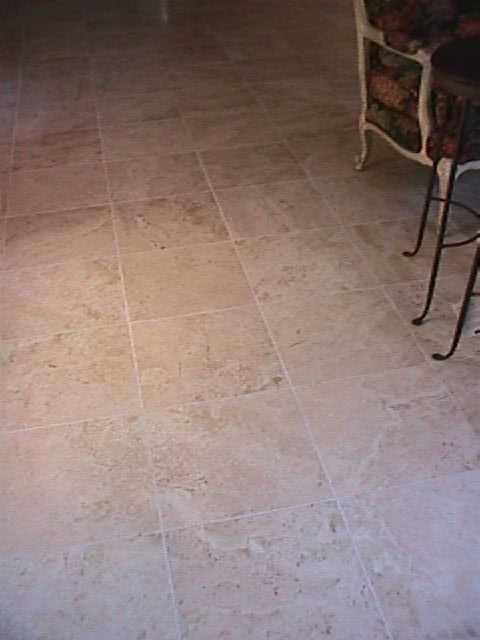 Groutless Travertine Ceramic Tile