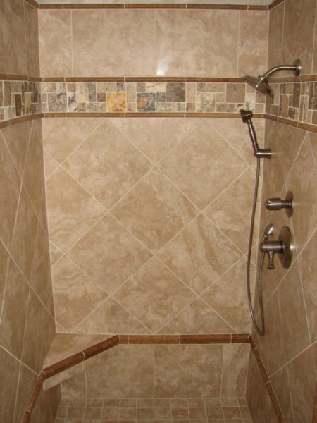 Tile Bathroom Shower Design Here's a newly remodeled bathroom