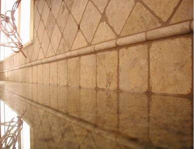 Tumbled travertine backsplash ceramic tile advice forums for Best grout color for travertine tile