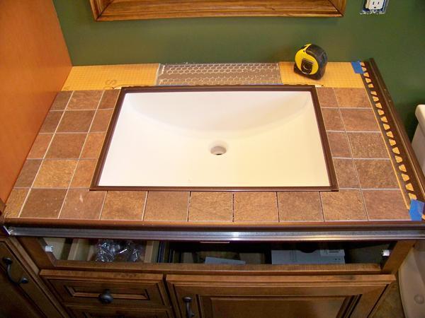 Kerdi Board Undermount Sink With Tile Countertop Project