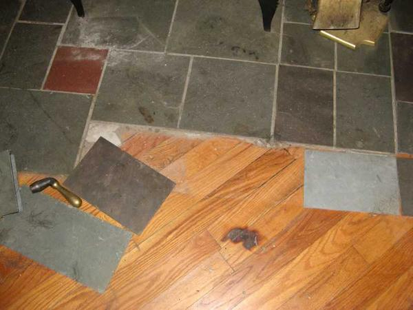 New Here And Tiling Behind Woodstove Ceramic Tile