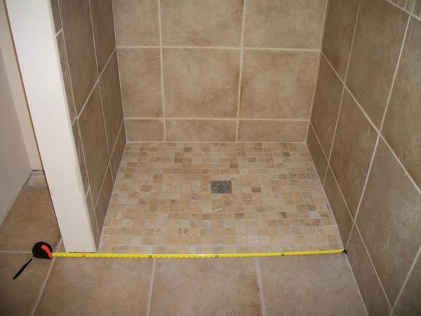 Drainage Problem With Curbless Shower Ceramic Tile