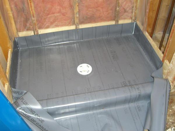 Bathroom Shower Vapor Barrier