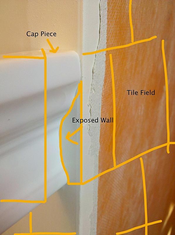 End A Chair Rail On Outside Corner Ceramic Tile Advice