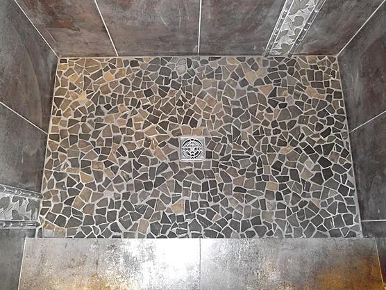 Pebble Shower Floor Problem Ceramic Tile Advice Forums John Bridge