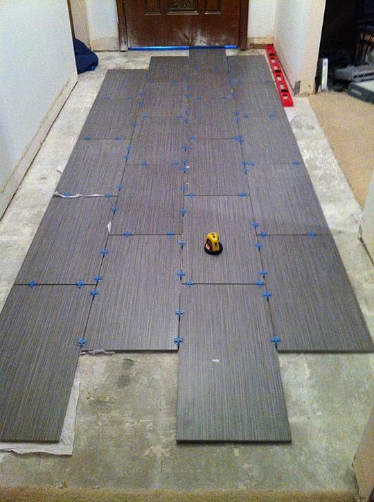 Hallway 12x24 ceramic tile advice forums john bridge for 12x24 floor tile layout