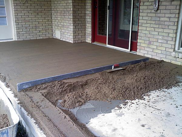 Attached Images Tile Over Concrete Patio Interior Ceramic Advice Forums