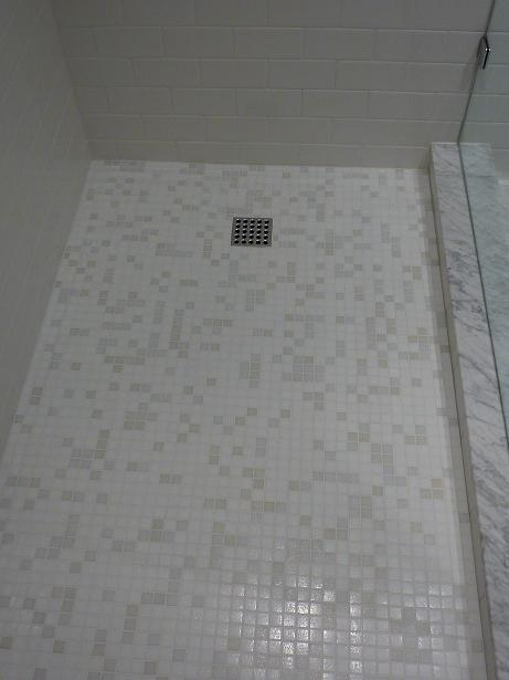Glass tile on shower floor?? - Ceramic Tile Advice Forums - John ...