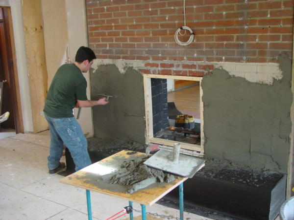 How to install tile over brick fireplace mycoffeepot org - Tiling a brick fireplace ...
