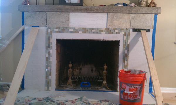 Tiling Over Brick Fireplace Skim Coat Or No Skim Coat