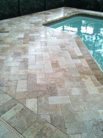 Travertine Pavers For Pool Decking Ceramic Tile Advice