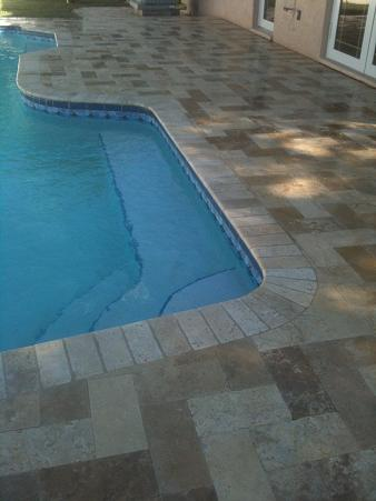 Travertine Pavers For Pool Decking Ceramic Tile Advice