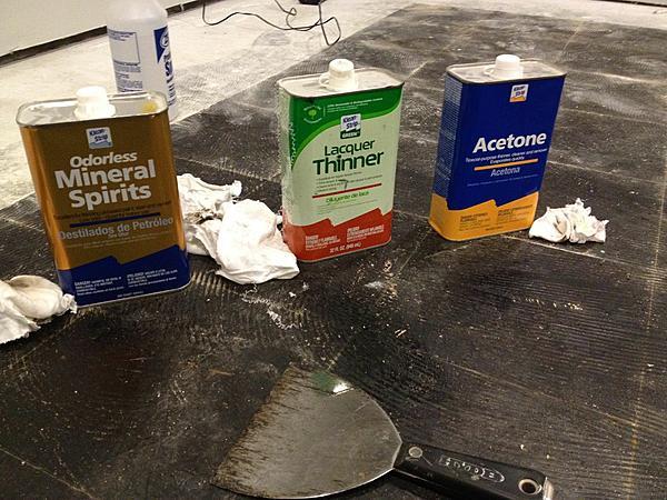 Self Leveling Compound over Black cutback - Ceramic Tile Advice