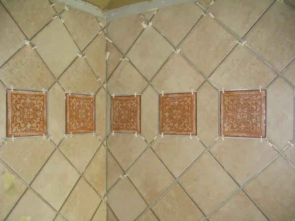 What Is The Proper Way To Install Diagonal Wall Tile