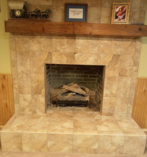 How to install tile over brick fireplace mycoffeepot org - Tile over brick fireplace ...
