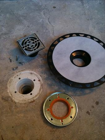 Removing Kerdi Drain Adapter Grate Assembly Ceramic Tile