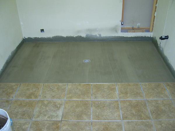 Need Advice On Concrete Shower Pan No Tile Ceramic Tile Advice