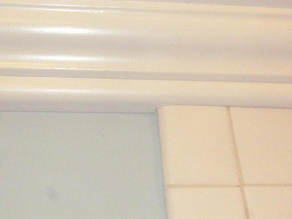 Or Maybe Cut Out Some Of The Bottom Crown Molding To Fit Around Tile