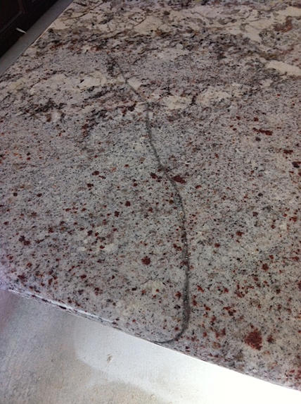 Crack In New Granite Counter Ceramic Tile Advice Forums