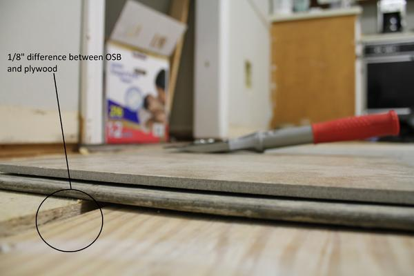 Trying To Tile An Unlevel Floor Ceramic Tile Advice Forums John