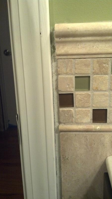 Gap Between Wall Tile And Door Trim Ceramic Advice Forums John Bridge