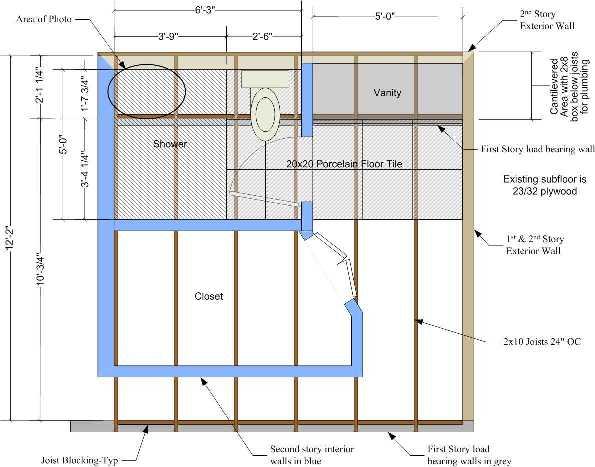 Bathroom Floor Joist Spacing : Master bath remodel floor structure concern ceramic