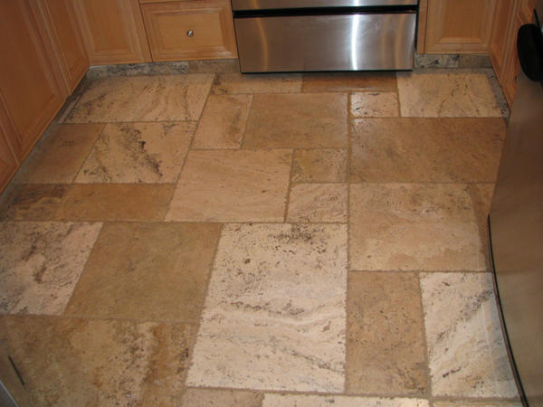 Challenged by setting french pattern travertine ceramic for 18 x 24 floor tile