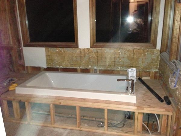 Help! How to build continuous tub deck/shower bench?? - Ceramic Tile ...