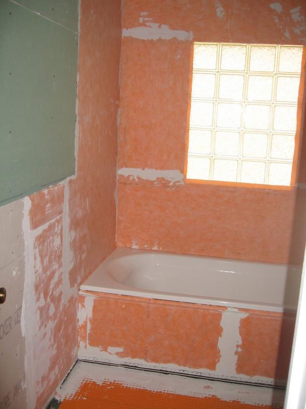 Fresh Tiling around a glass block window in a shower - Ceramic Tile  XH39