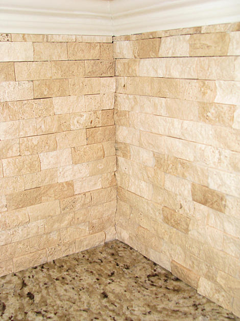 1x2 Split Face Travertine Corners Ceramic Tile Advice