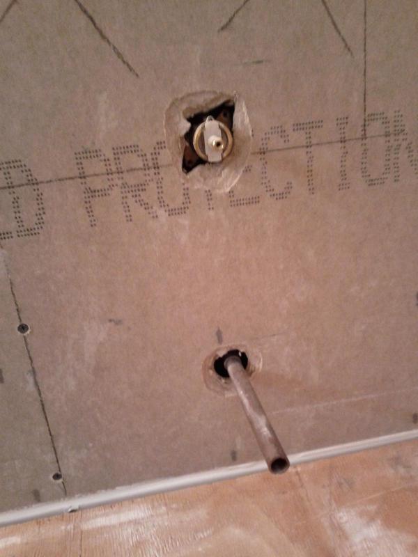 Shower mixing valve cutout - Ceramic Tile Advice Forums - John ...