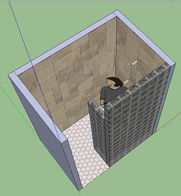 Doorless Shower Xish Ideas Ceramic Tile Advice Forums John - 4 x 6 tile shower