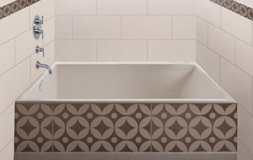 How to build frame and tile bathtub flush   Ceramic Tile Advice