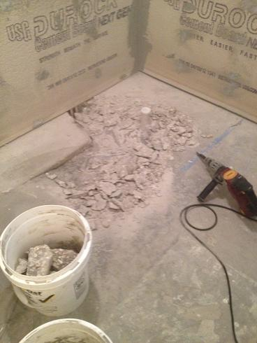 Lowering A Slab For Curbless Shower Ceramic Tile Advice