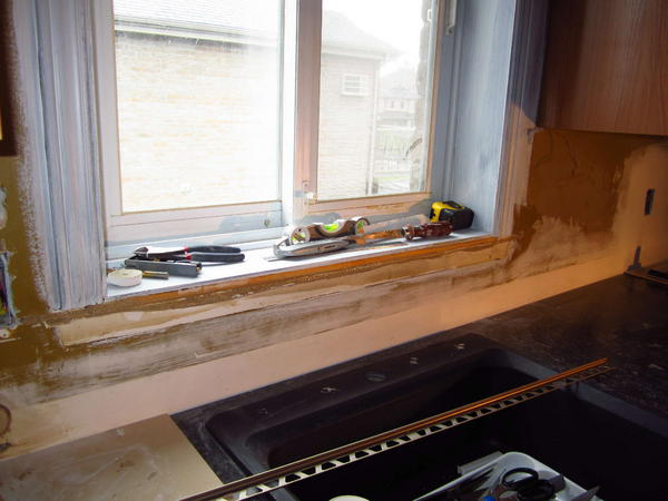Glass Tile Mosaic Backplash How To Finish Around Window