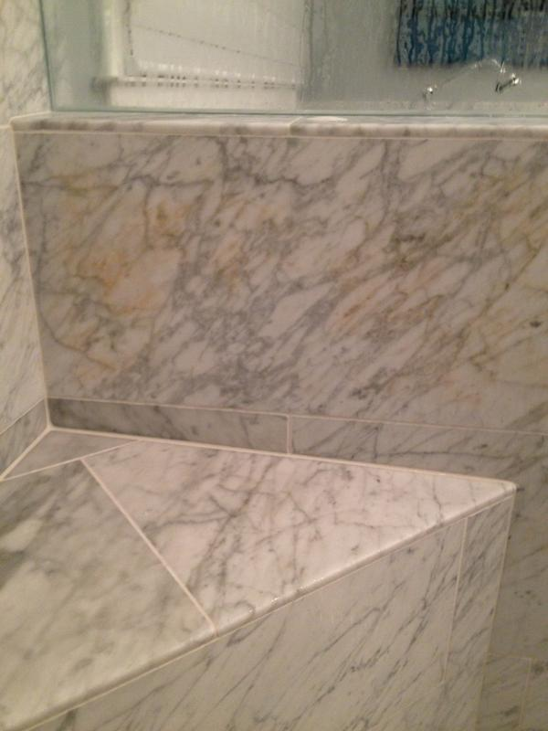 Rust Color Showing Up In Carrara Marble Ceramic Tile Advice Forums - Does carrara marble stain