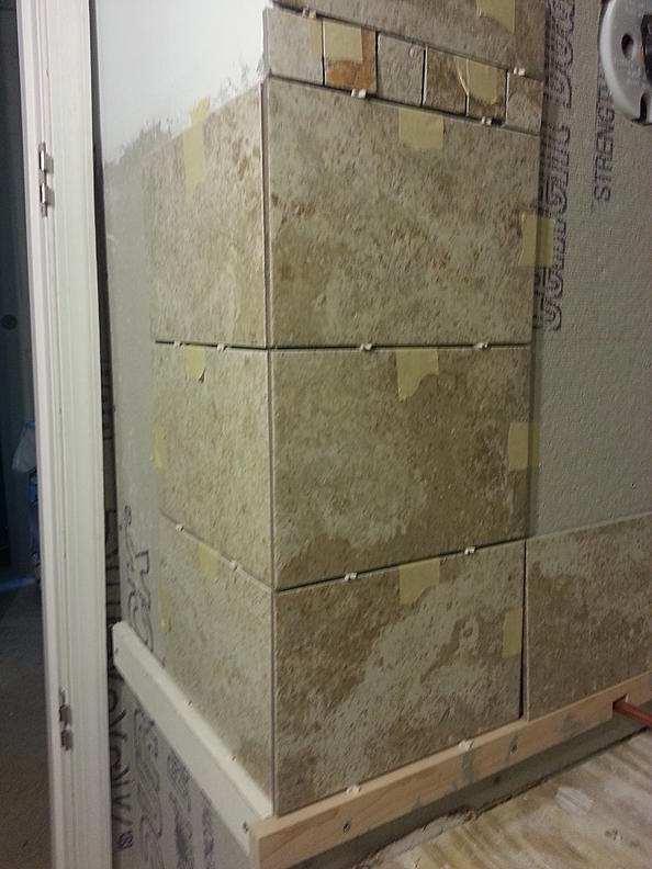Tiling outside corner walls - in Brick pattern - Ceramic Tile Advice ...