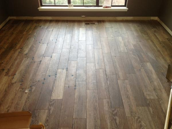 Sanded or Unsanded Grout for Wood-Look Tile @ 1/16 - Ceramic Tile ...