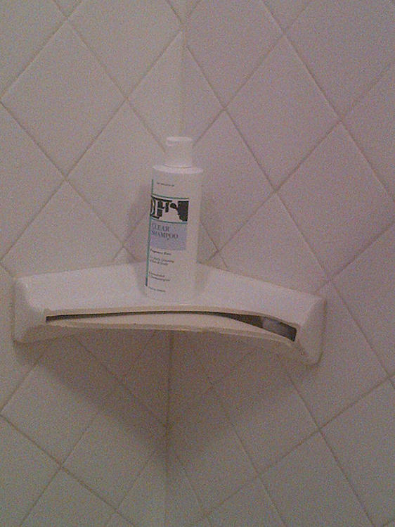 how do i repair a broken ceramic shower shelf ceramic tile advice forums john bridge. Black Bedroom Furniture Sets. Home Design Ideas