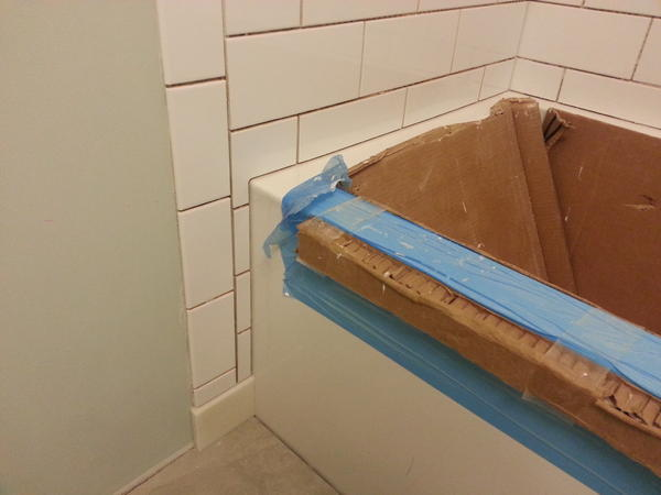 Wall Tile Around The Curve Of A Cast Iron Tub - Ceramic Tile