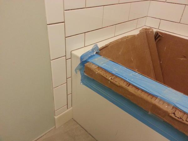 Wall tile around the curve of a cast iron tub - Ceramic Tile Advice ...