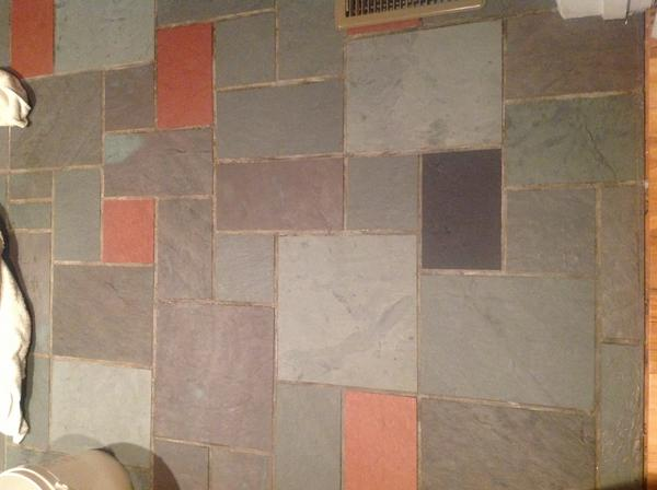 Restoring A Slate Floor Foyer Ceramic Tile Advice Forums John - 1960s floor tiles