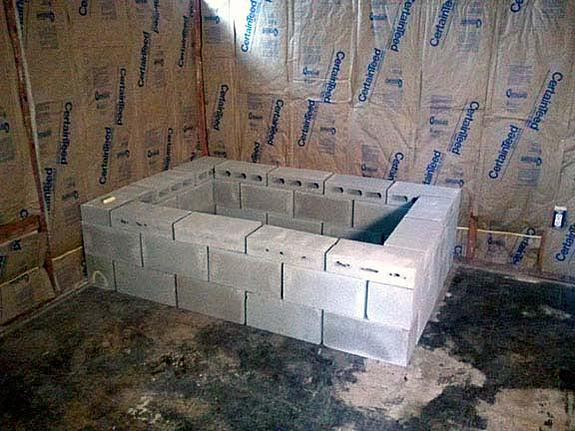 how to build a tub