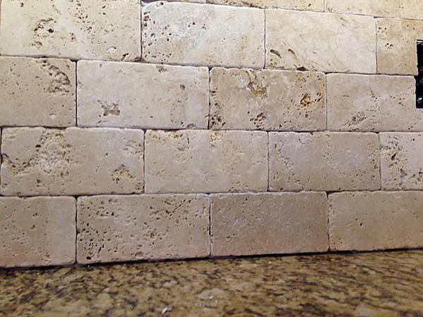 Tumbled Marble Backsplash Sanded Or Unsanded Grout