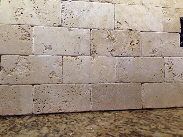 tumbled marble backsplash sanded or unsanded grout ceramic tile