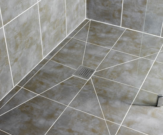 Shower Drainslope With Large Format Tile Q Ceramic