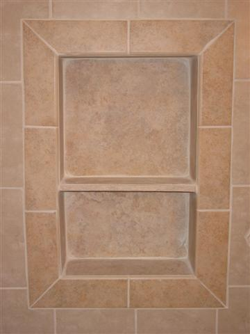 how to decide on which to put shower niche