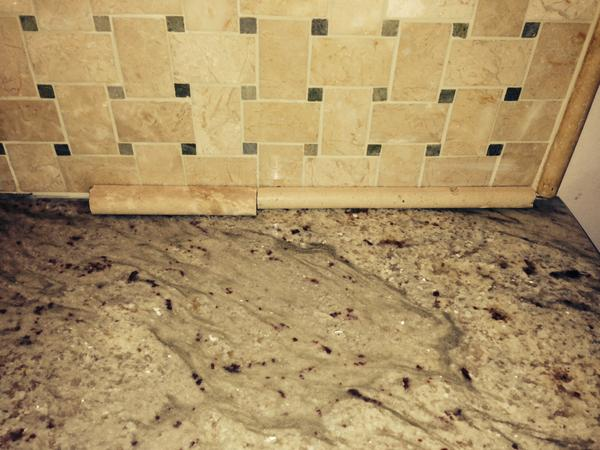 Gap Between Marble Backsplash And Granite Counters