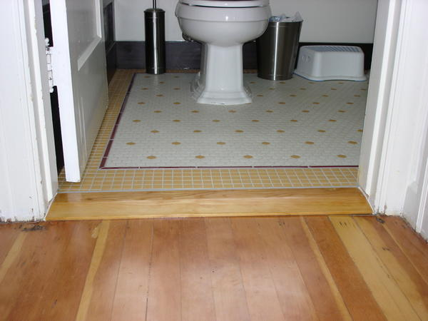 3 16 Quot Between Hardwood And Beveled Marble Threshold Leave