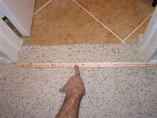 Tiling Bathroom Door Threshold carpet to tile transition-how to info - ceramic tile advice forums